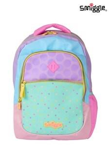 Smiggle Pink Block Backpack