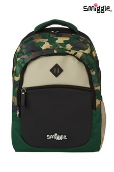 Smiggle Green Block Backpack
