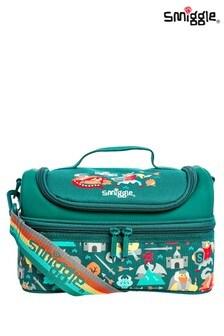 Smiggle Green Whirl Junior Double Decker Lunchbox