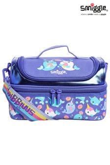 Smiggle Purple Whirl Junior Double Decker Lunchbox
