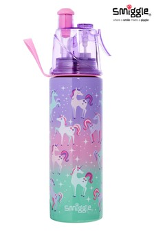 Smiggle Purple Spritz Stainless Steel Drink Bottle