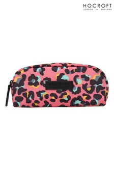 Hocroft London Sophia Small Makeup Bag Pink Leopard