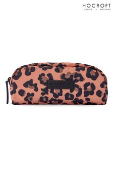 Hocroft London Sophia Small Makeup Bag Camel Leopard