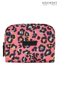 Hocroft London Daphne Medium Makeup Bag Pink Leopard