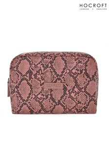 Hocroft London Tallulah Large Wash Bag Pink Snakeskin