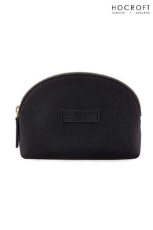 Hocroft London Roxanne Small Makeup Bag Black Fullgrain