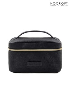Hocroft London Tattiana Vanity Case Black Fullgrain