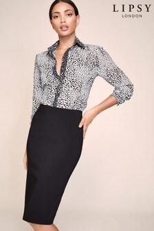 Lipsy Black Bengaline Skirt