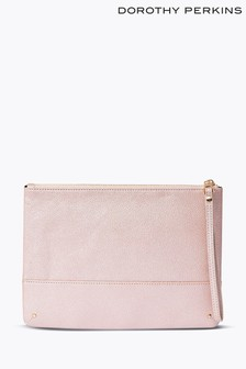 Dorothy Perkins Rose Gold Stud Panel Clutch