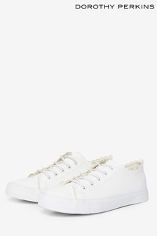 Dorothy Perkins White Isabella Scallop Trainer