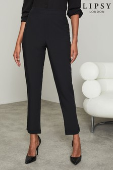 Lipsy Black Tapered Trousers