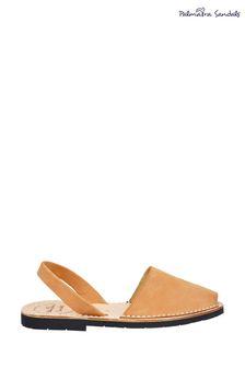 Palmaira Brown Flat Sandals