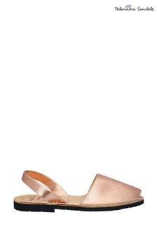 Palmaira Rose Gold Flat Sandals