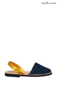 Palmaira Navy Flat Sandals