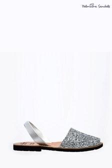 Palmaira Silver Flat Sandals