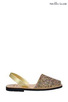 Palmaira Golden Flat Sandals