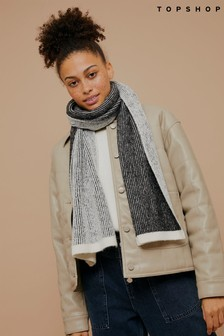 Topshop Plated Stripe Scarf