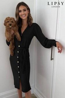Lipsy Black Cosy Cardigan Dress