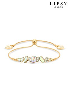 Lipsy Jewellery Gold Plated Crystal Mixed Stone Toggle Bracelet