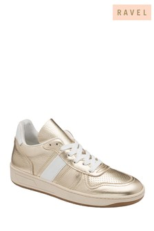 Ravel Champagne Leather Trainers