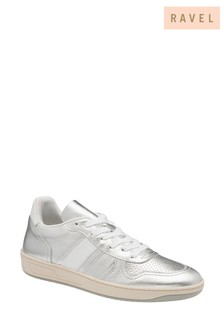 Ravel Silver Leather Trainers