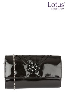 Lotus Patent Cluster Clutch Bag