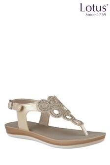 Lotus Gold Toe Post Sandal
