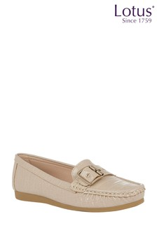 Lotus Footwear Nude Slip-On Loafers