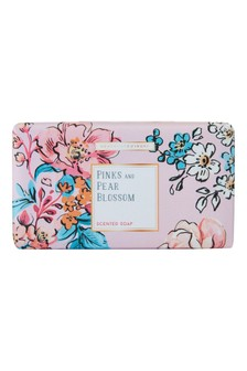 Heathcote & Ivory Florals Pinks & Pear Blossom Triple-Milled Scented  Washing Soap Bar