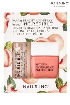 NAILS INC Nail Polish Duo Peach and Perky - (Worth £30)
