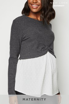 New Look Maternity 2-in-1 Long Sleeve Top