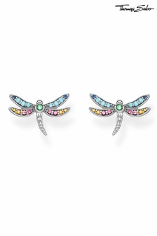 Thomas Sabo Silver Yellow Gold Dragonfly Studs