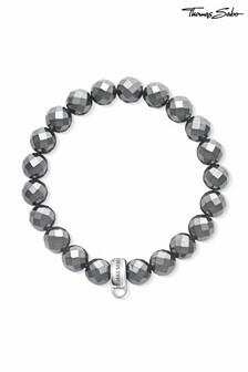Thomas Sabo Silver Beaded Charm Club Bracelet