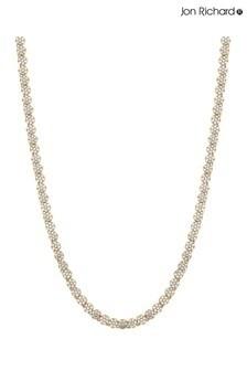 Jon Richard Gold Fine Pave Tennis Necklace