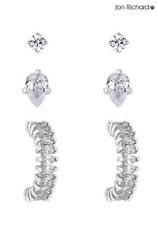 Jon Richard Mini Stud & Small Hoop Earrings Set - Pack Of 3