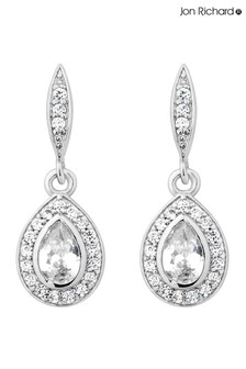 Jon Richard Silver Plated Cubic Zirconia Peardrop Drop Earring