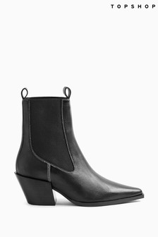 Topshop Western Style Ankle Boots
