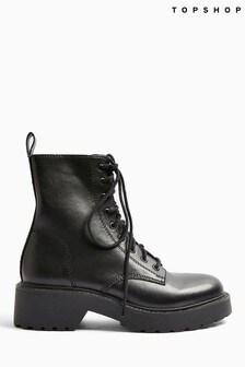 Topshop Kacy Low Lace Boots