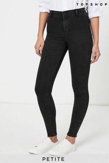"""Topshop Washed Black Petite Joni Skinny Jeans 28"""" Leg"""
