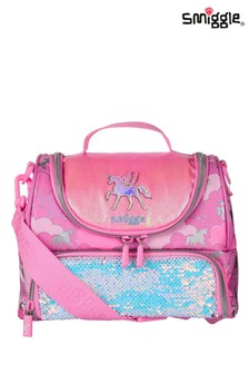 Smiggle Pink Lunar Double Compartment Lunchbox