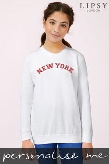 Personalised Lipsy City Kid's Sweatshirt by Instajunction