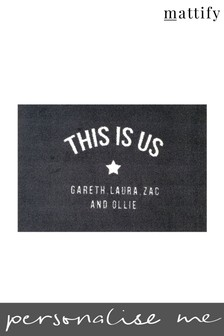 Personalised This Is Us Doormat by Mattify