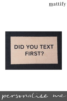 Mattify Text First Doormat