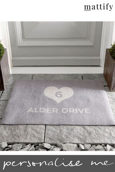 Personalised Address Doormat by Mattify