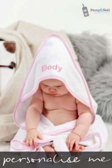 Personaliased Hooded Towel Edged by Percy & Nell