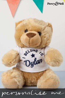 Personalised Bear In Tee By Percy & Nell