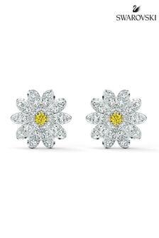 Swarovski Silver Eternal Flower Stud Pierced Earrings