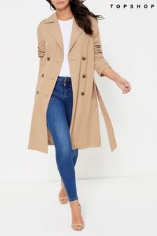 Topshop Camel Sophia Trench Coat