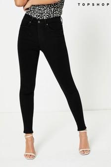 Topshop Washed Black Short Leg Jamie Skinny Jeans