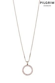 PILGRIM Rose Gold Malin Crystal Necklace